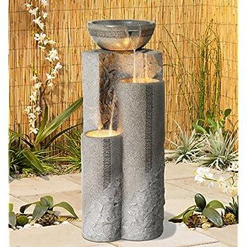 Faux Marble Bowl & Pillar 34 1/2