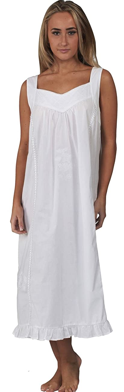 The 1 for U Nancy 100% Cotton Victorian Sleeveless Nightgown 7 Sizes 2