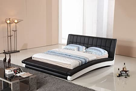 Modrest BL9033 Modern Black and White Leatherette Bed