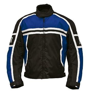 Römer 5821 Blouson Moto Washington, Noir/Bleu/Blanc, XS