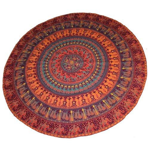 handicrunch-wall-hanging-tapestry-mandala-wall-decor-indian-red-color-round-mandala-beach-sheet-yoga