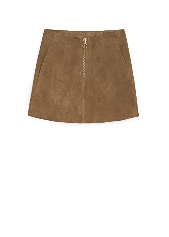 Mango Women's Premium Suede Skirt