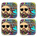 MeSleep Big Brother Wooden Coaster-Set Of 4 - B013LEIVKC