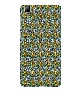 ifasho Animated Pattern design many small flowers Back Case Cover for VIVO Y35