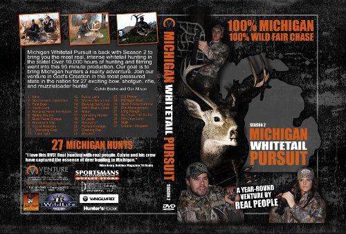 Michigan Whitetail Pursuit Season 2 Hunting DVD 100% Michigan 100% Fair Chase
