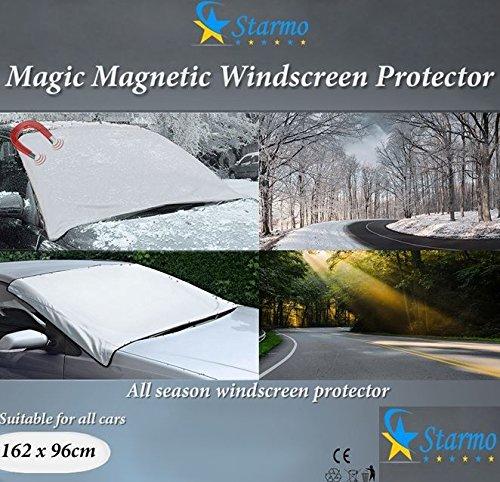 2x starmo Windschutzscheibe Abdeckung Magnetische Auto Windschutzscheibe Schützen vor Sonne, Eis, Frost & Schnee alle Wetter Schild Bildschirm-Cover