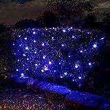 ZeleSouris Multi 300 LED Solar Powered Garden Net Lights Outdoor 4.5M x 1.6M Ideal for Outdoor Garden Patio Christmas Wedding Party (Solar Powered Type - Blue)