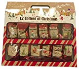 12 Gourmet Coffees of Christmas Holiday Gift Set