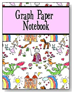 Graph Paper Notebook For Girls - The little princess in your life will love the cute storyland scene and pink banner on the cover of this graph paper notebook for younger kids.