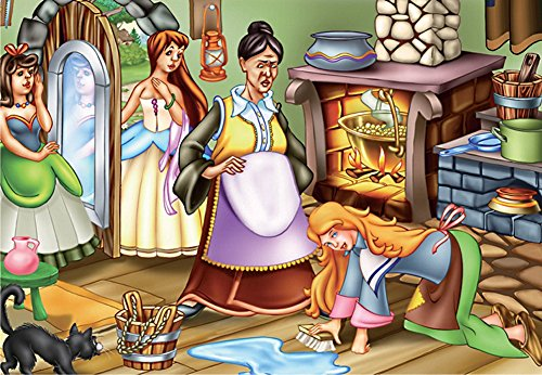 D-Toys Cinderella's Chores Jigsaw Puzzle, 60-Piece