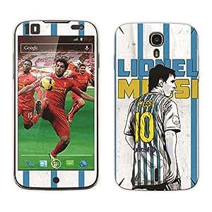 Bluegape Xolo Q2500 Lionel Messi Football Player Mobile Skin Cover, Multicolor