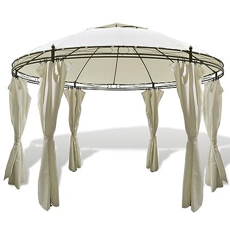 vidaXL Tonnelle ronde avec rideaux 3,5 x 2,7 m