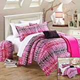 Chic Home 8-Piece Techno Comforter Set with Shams Decorative Pillows and Sheet Set Twin