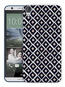 """Humor Gang Traditional Checks Print Printed Designer Mobile Back Cover For """"HTC DESIRE 820"""" (3D, Matte, Premium Quality Snap On Case)"""