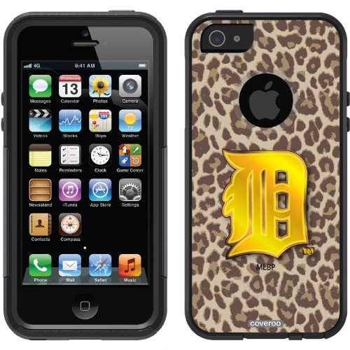 Special Sale Detroit Tigers - Leopard Print design on a Black OtterBox® Commuter Series® Case for iPhone 5s / 5