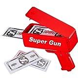 Sopu Super Money Gun Paper Playing Spary Money Gun Make it Rain Toy Gun, Prop Money Gun 100 Pcs Play Money (Color: Red)