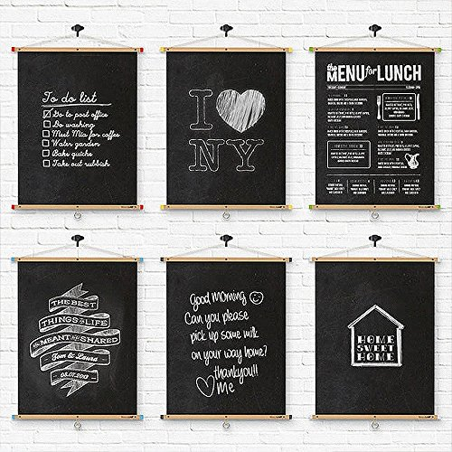 Prefer-Green-Premium-Extra-Large-Chalkboard-Decal-Wall-Sticker-with-5-Colored-Chalk-Blackboard-Contact-Paper-Vinyl-Measures-177-X-787-Black
