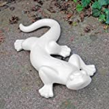 White Decorative Ceramic Lizard Ornament for the Garden or Home
