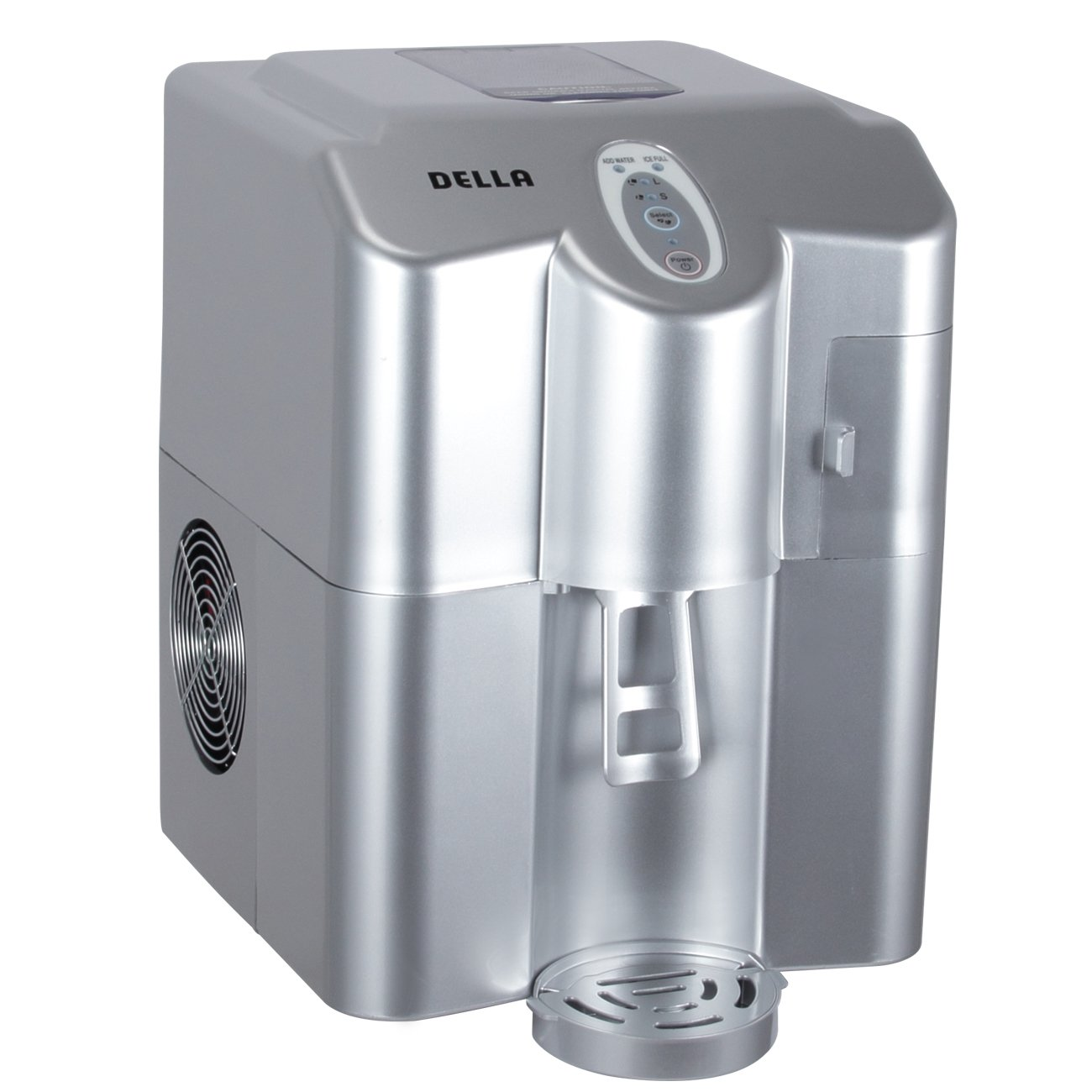 DELLA© Compact Portable CounterTop Ice Maker Dispenser Freestanding Cube Machine