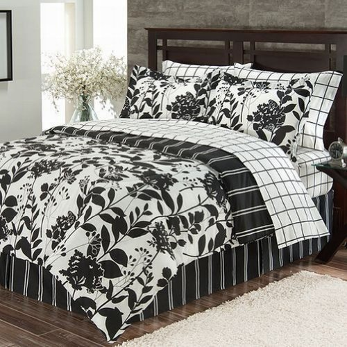Black And White Bed In A Bag Twin front-986745