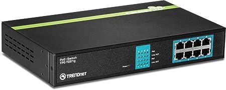 Switch 8 Ports PoE+ Gigabit - GREENnet - Alim. Interne