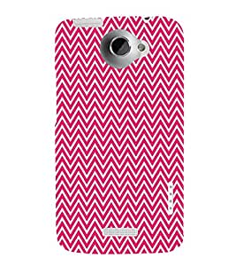 Pink Chevron Glow 3D Hard Polycarbonate Designer Back Case Cover for HTC One X