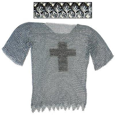 Legendary Templar Cross Chainmail Haubergeon Ex-Large