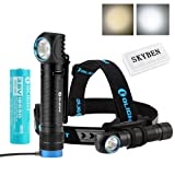 Olight H2R 2300 Lumens CREE XHP50 LED 18650 USB Rechargeable Flashlight/Headlamp For Outdoor Camping Hiking Running Multi Functional Light with SKYBEN Accessory (Cool White) (Color: Cool White)