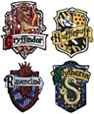 Set of 4 Hogwarts House Crests Robe Emblems Harry Potter Iron On Applique Patch