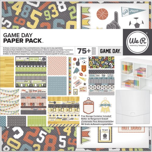 We R Memory Keepers Game Day Paper Pack, 12 By 12-Inch