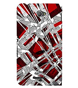 Animated Pattern of Greek Key 3D Hard Polycarbonate Designer Back Case Cover for Sony Xperia E4 Dual