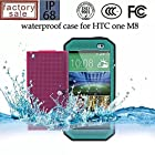 Nancy's shop Dot View Matrix Case Cover For HTC One M8 Waterproof Dirtproof Snowproof Shockproof Skin Hard Phone Shell for HTC One M8 (Blue grass)