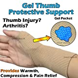 Gel Thumb Protect Support Brace - Hand or Thumb Injury? Painful Arthritis? - CHOOSE Your Size! (1x Medium)by GreatIdeas