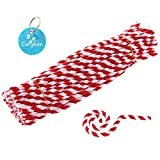 Caryko Striped Chenille Stems Pipe Cleaners, Pack of 100 (Red) (Color: Red)