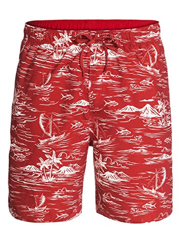 Quiksilver Waterman Men's Seanic Elastic Waist Volley Short, Firecracker, Small