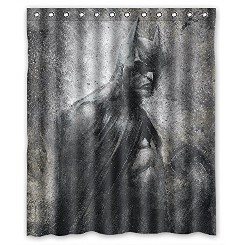 Cool Super Hero The Avengers Batman Wonder Woman Polyester Waterproof Shower Curtain 60X72 Inches