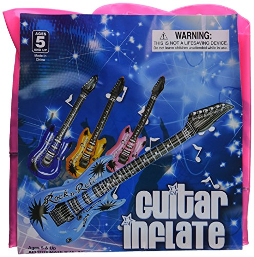 Inflatable Guitars - 42 inch (12/PKG) Assorted colors - 1