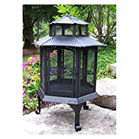 Oakland Living Pagoda Black Fire pit