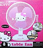 "Hello Kitty 14.5"" 2-Speed Table Fan with 60 Degree Oscillation"