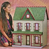 Real Good Toys Real Good Toys Vermont Farmhouse Jr Kit - 1 Inch Scale, Milled MDF Wall Finish, Medium Density Fiberboard