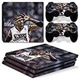 FriendlyTomato PS4 Pro Console and DualShock 4 Controller Skin Set - Basketball NBA - PlayStation 4 Pro Vinyl
