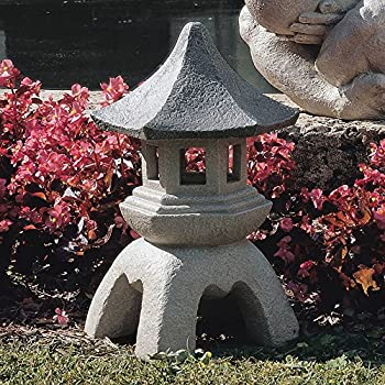 MD Group Garden Statue Pagoda Sculptures Asian Style Small Resin Outdoor Lawn Decor