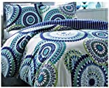 Super India Printed Micro Fiber Double Bed Comforter/Quilt set with two pillow cases (Blue Jay)
