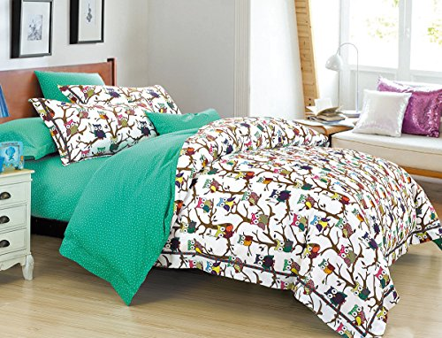 Cliab Owl Bedding Full Size with Polka Dots