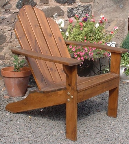 Perfect Christmas Gift - Our Best Seller Quality Handcrafted Adirondack Garden Chair Fully Assembled - Choose from a Range of Colour Finishes