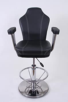 Barstool black Faux leather Luxe