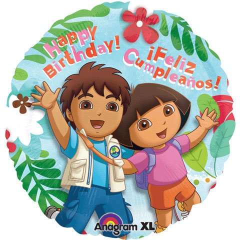 "18"" Dora & Diego Birthday (1 per package)"