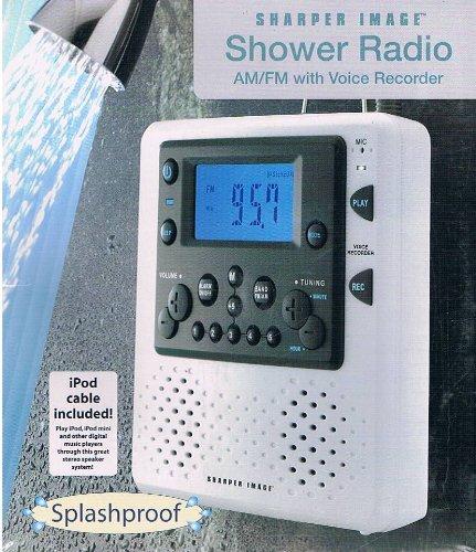 The Sharper Image AM/FM Shower Radio with Voice Recorder (Sharper Image Shower Radio compare prices)
