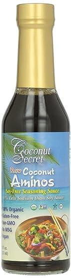 Coconut Secret Organic Raw Coconut Aminos Soy-Free Seasoning Sauce-8 Oz Frustration