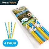 4 Big Bubble Wands: Making Giant Bubbles. Great Birthday Activity and Party Favor. Giant Bubble Solution Not Included.